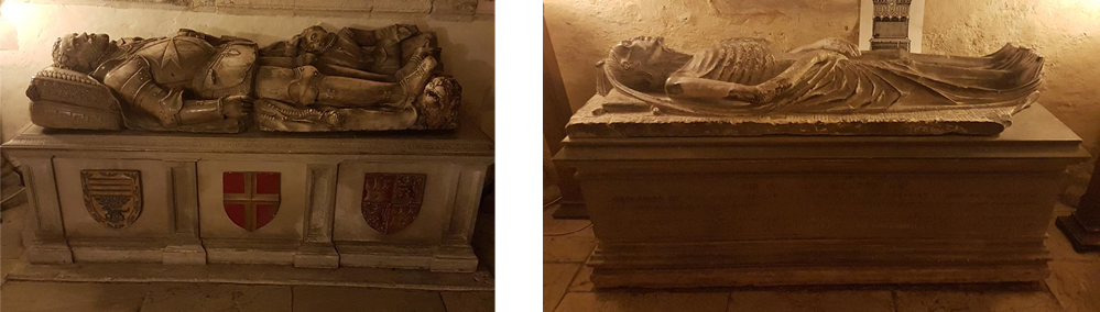 Tombs in the crypt