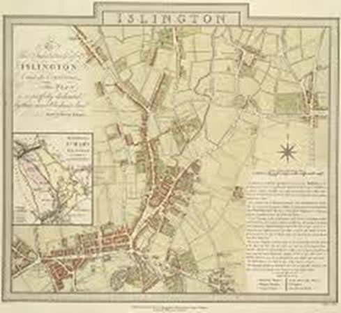 Map of Islington